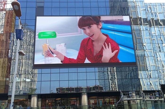 户外挂墙p10全彩led广告显示屏安装价格