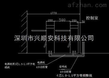 新疆防恐安装三辊三辊闸机/桥式闸CAD教程图cad系统用苹果刷卡尺寸图片