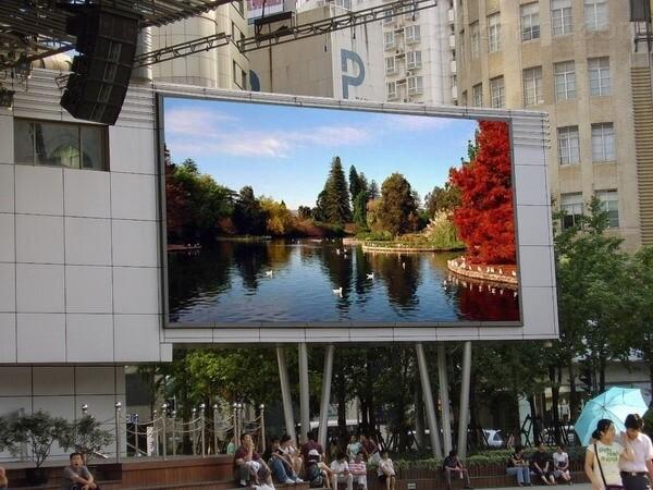 led广告宣传大屏幕室外p6型号含结构制作