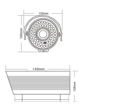 ja-601hrb红外摄像机产品结构图